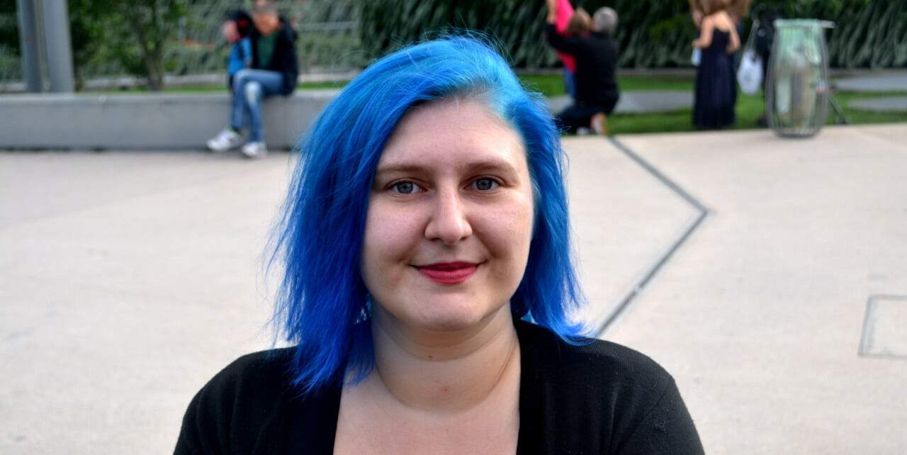 Myriam Jessier Blue Hair
