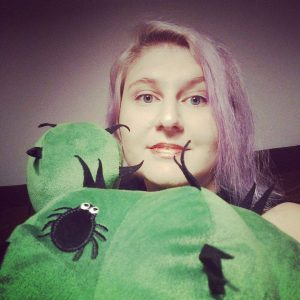 Myriam Jessier and green cactus plushie