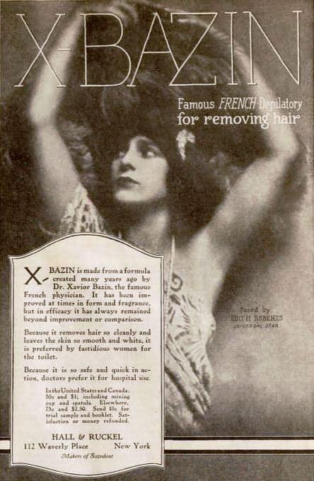 X Bazin Ad 1921 Edith Roberts
